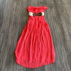 NWOT Strapless Summer maxi Dress